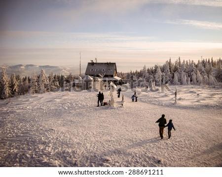 Mountain slope. - stock photo
