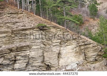 mountain slope - stock photo