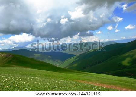 mountain spring in the mountains of Armenia - stock photo
