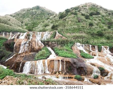 mountain stream - stock photo