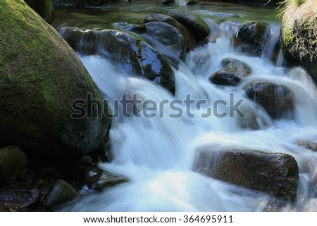 "Mountain stream ""Ilse"" in the Harz National Park, in Saxony-Anhalt / Germany  - stock photo"