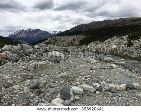 Mountain Stream in Argentina - stock photo
