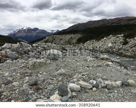 Mountain Stream in Argentina - stock photo