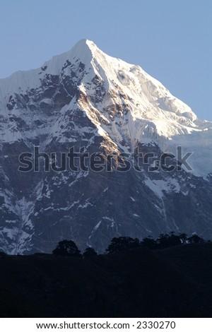 Mountain Top Near Mount Everest - stock photo