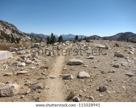 Mountain trail - stock photo