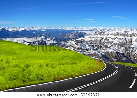 Mountain travel - stock photo