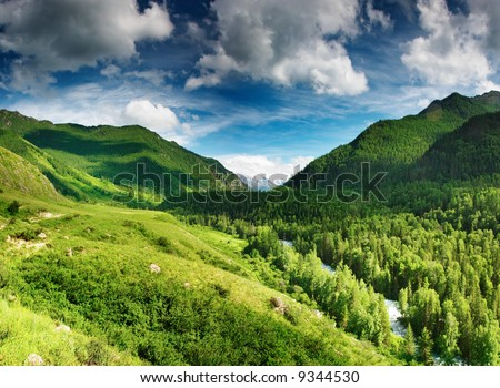 Mountain valley - stock photo