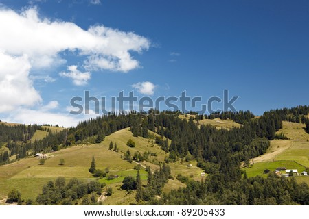 Mountain valley at sunny day
