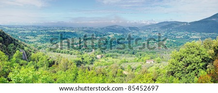 Mountain valley at sunny day in Italy