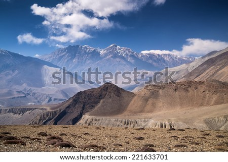 Mountain valley in summer time. Natural landscape - stock photo