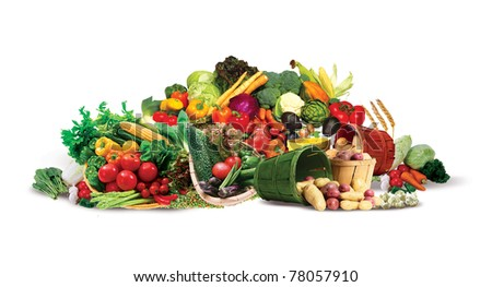 Mountain vegetables - stock photo