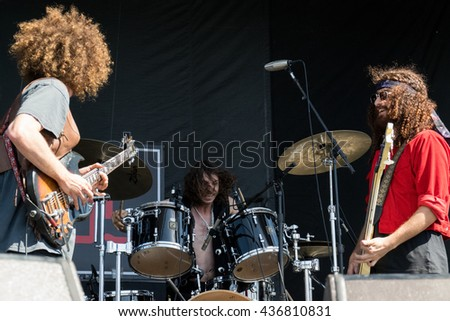 MOUNTAIN VIEW, CA - JUNE 4, 2016: Live 105's BFD - Wolfmother in concert at the Shoreline Amphitheater in Mountain View, CA  © Andrew Wilson / www.rockmonthly.com