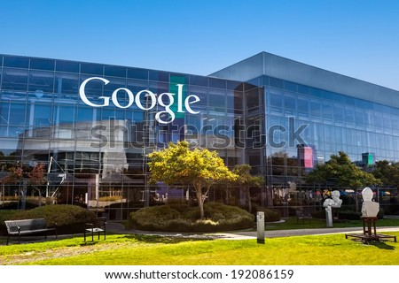 MOUNTAIN VIEW, CA/USA - October 12, 2013: Exterior view of a Google headquarters building. Google is a multinational corporation specializing in Internet-related services and products.