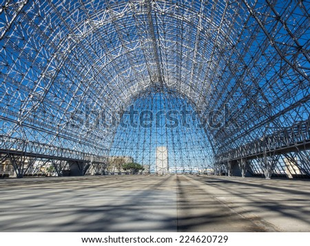 MOUNTAIN VIEW, CA/USA - OCTOBER 18: NASA's Ames Research Center celebrates 75th Anniversary with open house on October 18, 2014. - stock photo