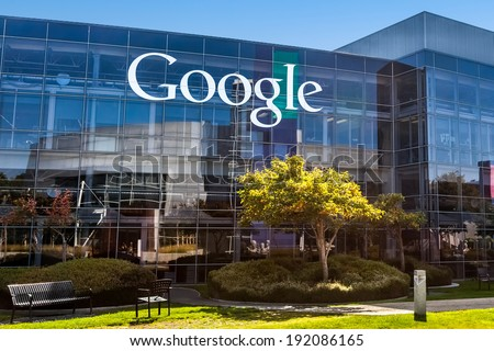 MOUNTAIN VIEW, CA/USA - October 12, 2013: View of Google office building. Google is a multinational corporation specializing in Internet-related services and products. - stock photo