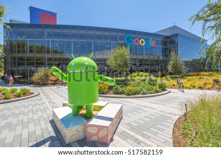 google office pictures california. mountain view california usa august 15 2016 android nougat replica in google office pictures