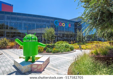 photos of google office.  google mountain view california usa  august 15 2016 android nougat replica in for photos of google office