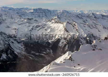 Mountain view from Alpine Ski center Top of Salzburg at Kapnum, Zell-am-See, Austria, Europe