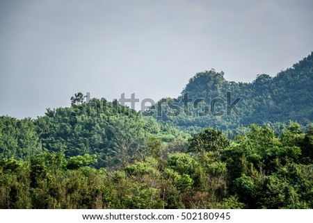 mountain view in north Thailand