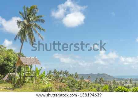 Mountain view of  Koh Samui Island Thailand