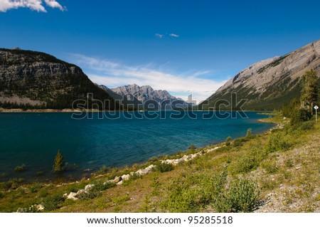 Mountain Views Highway 93 Banff National Park Alberta Canada - stock photo