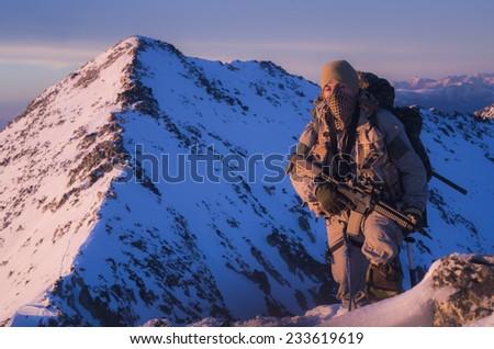 Mountain Warrior - stock photo