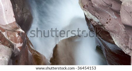 mountain waterfall in the Pyrenees