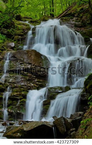 Mountain waterfall landscape