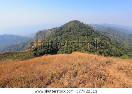 mountain with blue sky at north thailand