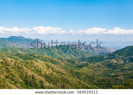 mountain with sky and cloudy at Khao-kho Phetchabun,Thailand.