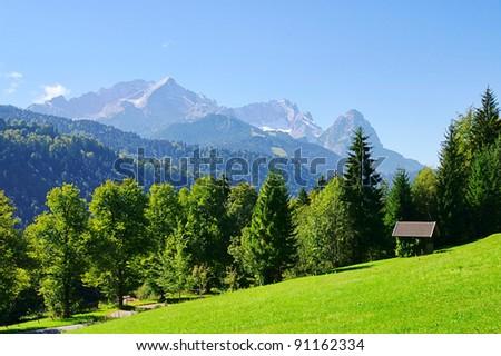 mountain Zugspitze - stock photo