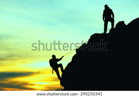 mountaineering activities - stock photo