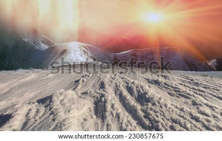Mountaineering- for the brave people. requires experience and knowledge to survive in the cold, thin air and the wind and the lack of visibility. possibility of falling off a cliff  - stock photo