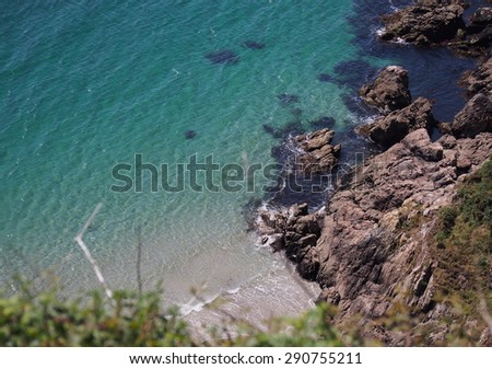 Mountainous coast - stock photo
