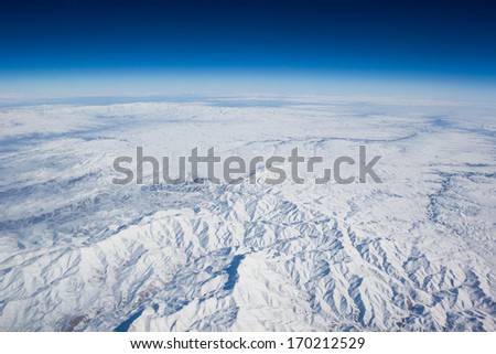 Mountains, aerial view. Beauty nature background - stock photo