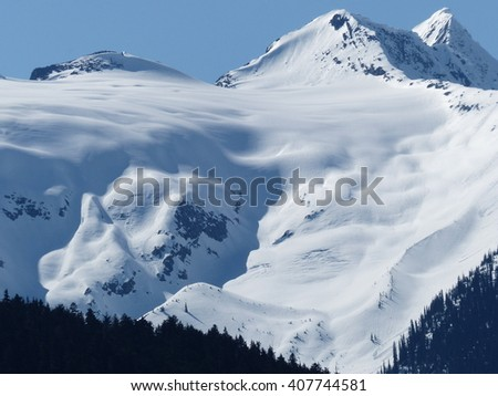 mountains and alpine - stock photo