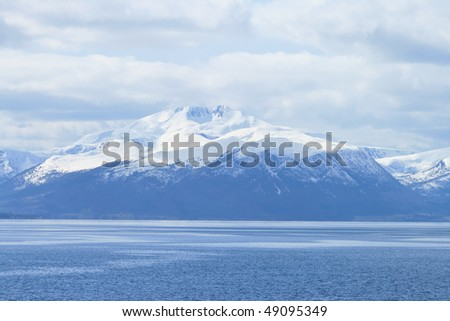 mountains and fjords of Norway - stock photo