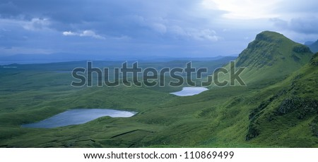 Mountains and lakes in Scotland