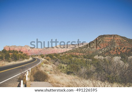 Mountains and rock formations in Sedona Arizona