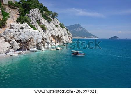 mountains and sea around Kemer, Turkey - stock photo