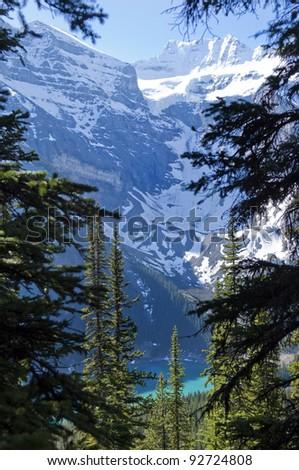 mountains around Lake Moraine,Banff National Park,Canada - stock photo