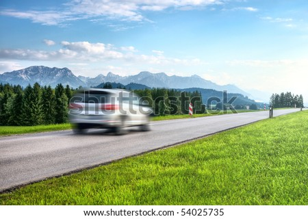 Mountains car travel. - stock photo