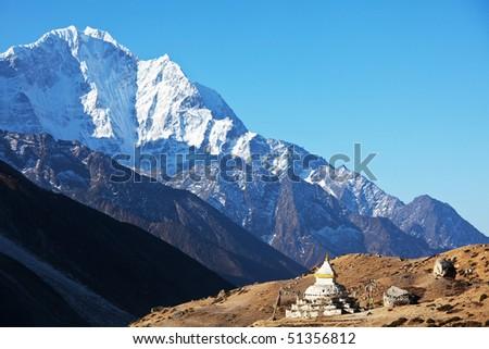Mountains Himalaya - stock photo