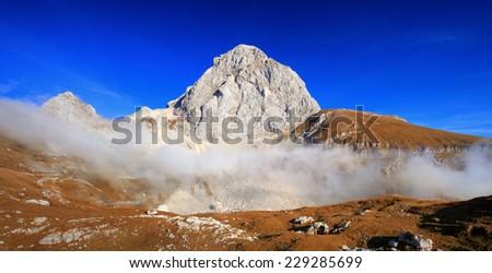Mountains in autumn - stock photo