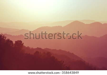 Mountains in Cyprus - stock photo