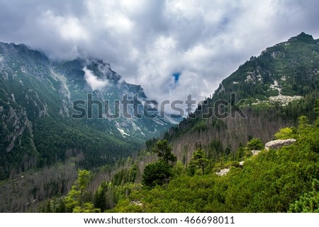 Mountains in High Tatras in Slovakia