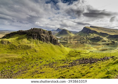 Mountains in Highland,Scotland - stock photo