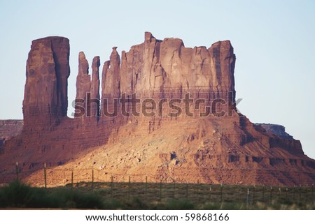 Mountains in Indian reservation - stock photo