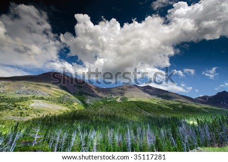 Mountains in Montana - stock photo