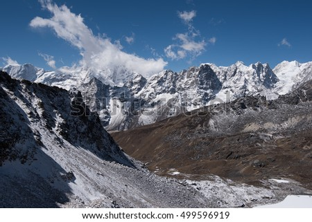 Mountains in Nepal Himalaya